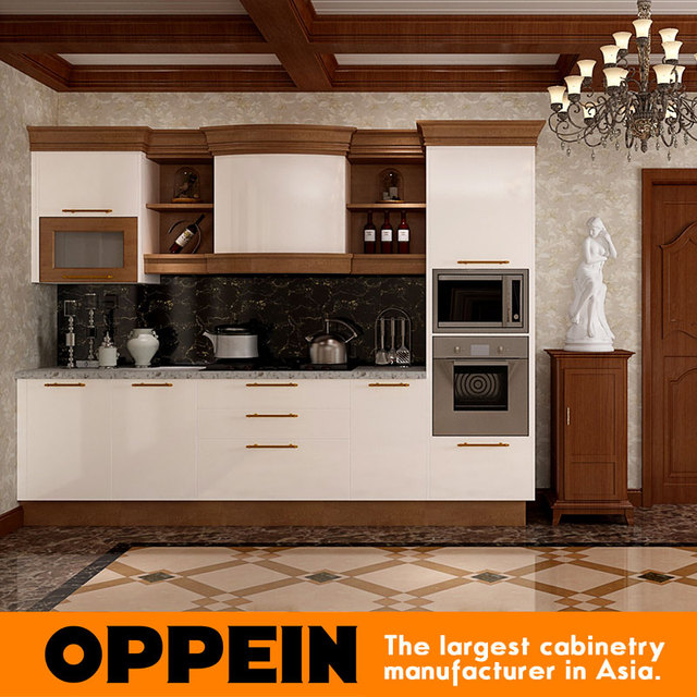 Solid Wood Kitchen Sets Cost For Cabinets Ghana Project Double Color Lacquer And Design In