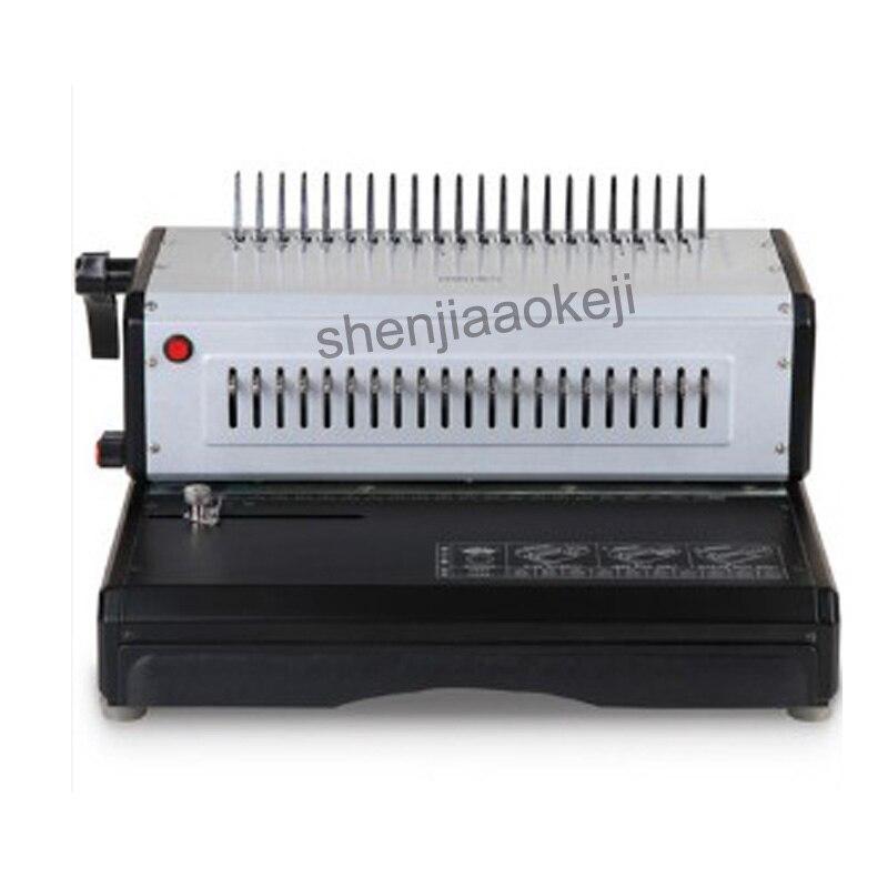 Durable metal surface binding machine 3883 electric clip binding machine comb type binding machine adjustable margins