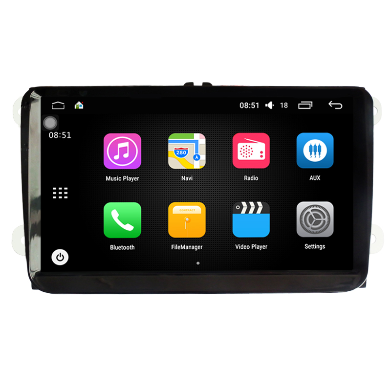 Quad Core 9 inch Android 6.0 Car DVD PC GPS For Volkswagen VW Golf Passat Polo Jetta Tiguan Skoda Seat Leon with CanBus WiFi