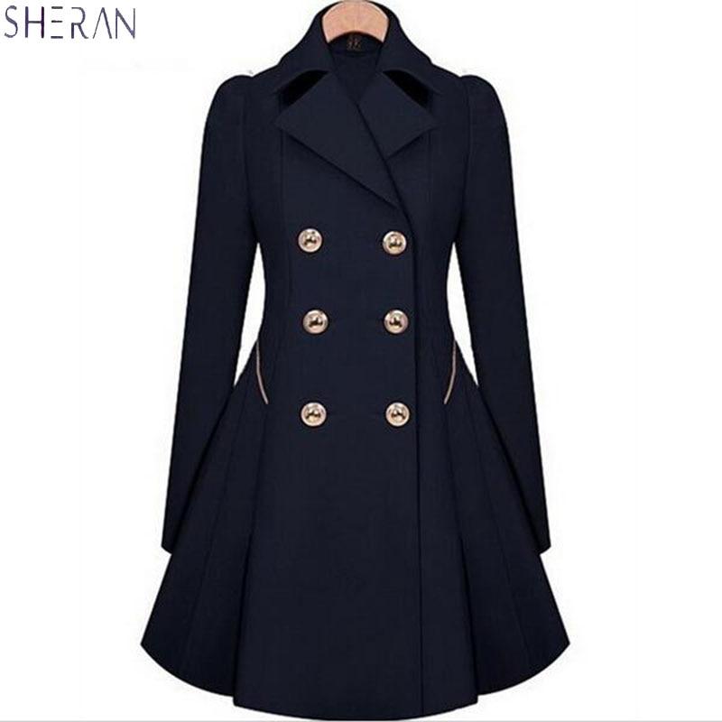 SHERAN   Trench   Coat women's coats Slim Classic waist was thin female plus size   trench   coat for women 2018 Spring overcoat women