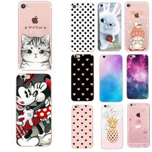 Caso bonito do gato para o iphone 6 s 6 s tampas de luxo funda silicone caso para o iphone x xs 7 8 plus 5 5S se casos acessórios do telefone(China)