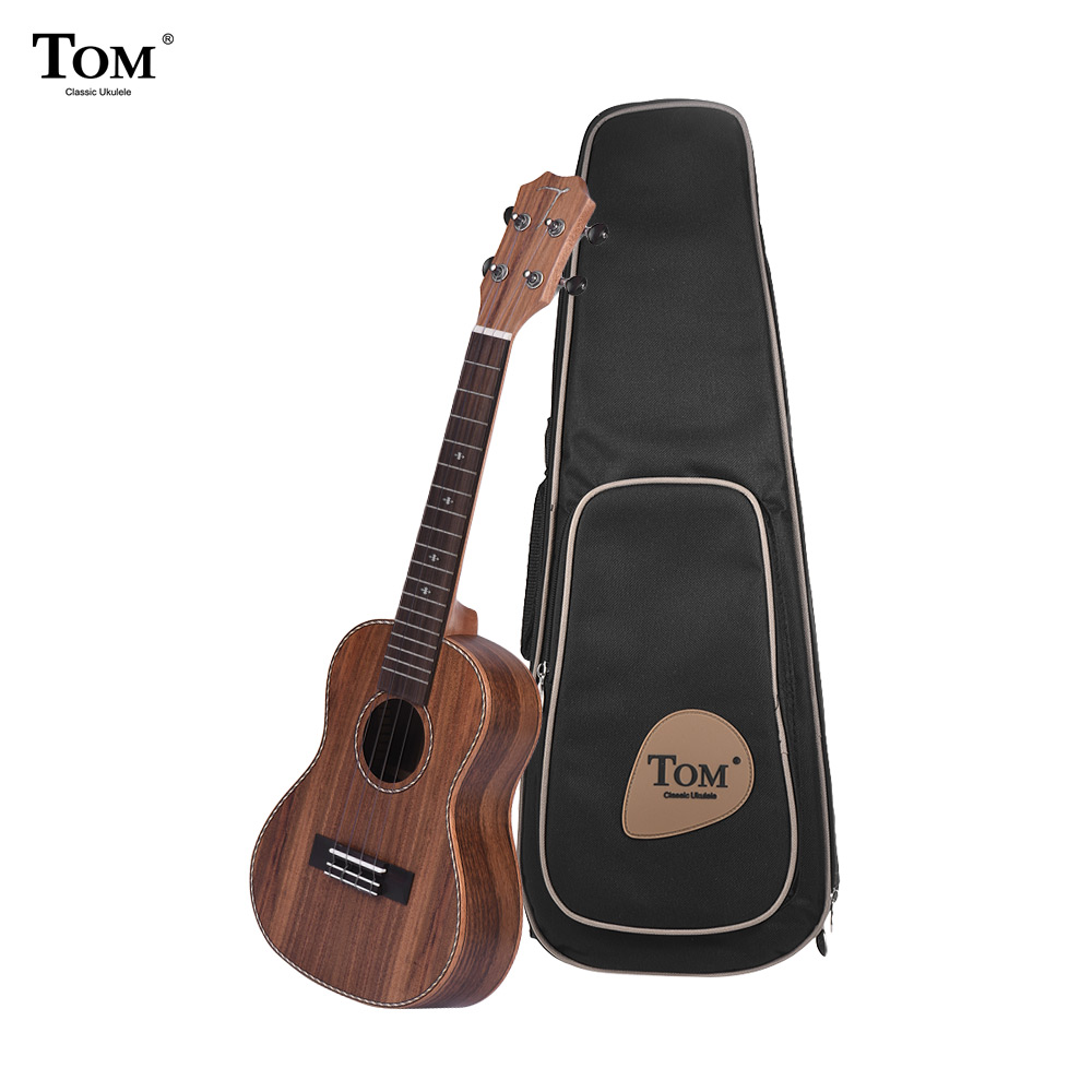 "TOM TUC-700 23"" Acoustic Concert Ukulele Ukelele Uke Kit with Bag Strap String Tuner Celluloid Picks for string instrument lover"