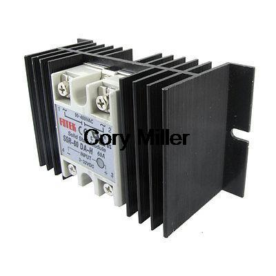 Temprature Control Solid State Relay SSR 60A 3-32V DC 90-480V AC + Heat Sink high quality temprature control solid state relay ssr 40a 3 32v dc 24 380v ac with heat sink
