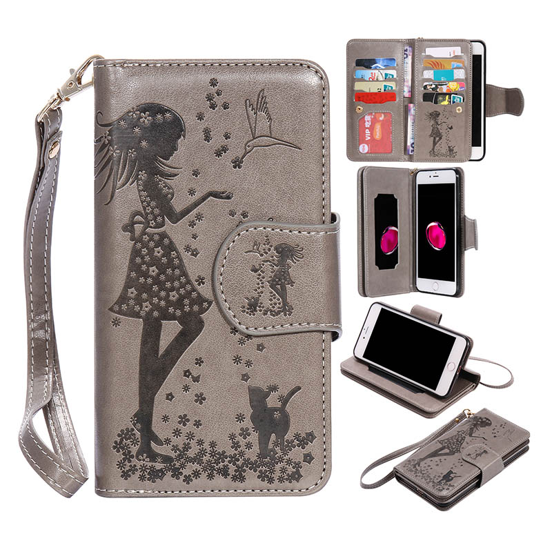 9 Card Holders Wallet Case for Samsung Galaxy J3 J5 J7 J5 A3 A5 2016 Case Luxury PU Leather Flip Cover For Huawei Y3 ii P8 Lite