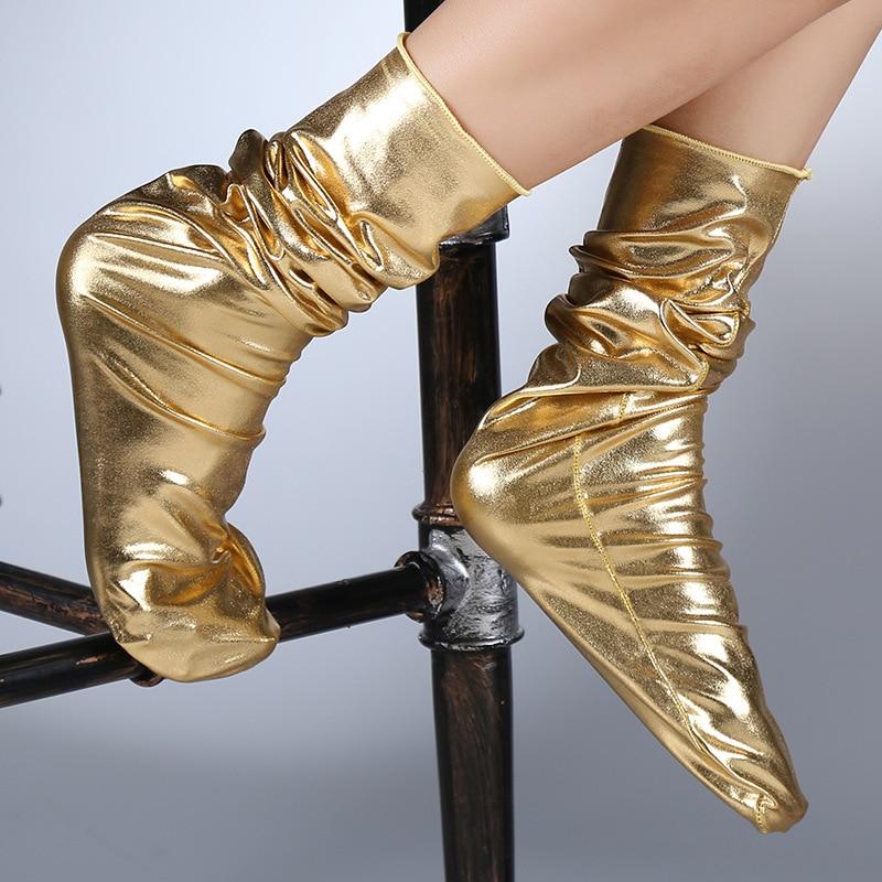 RUNNING CHICK Creative Golden Socks Trendy Nightclub Socks Autumn And Winter Acrylic Women Socks Pile Heap Wholesale