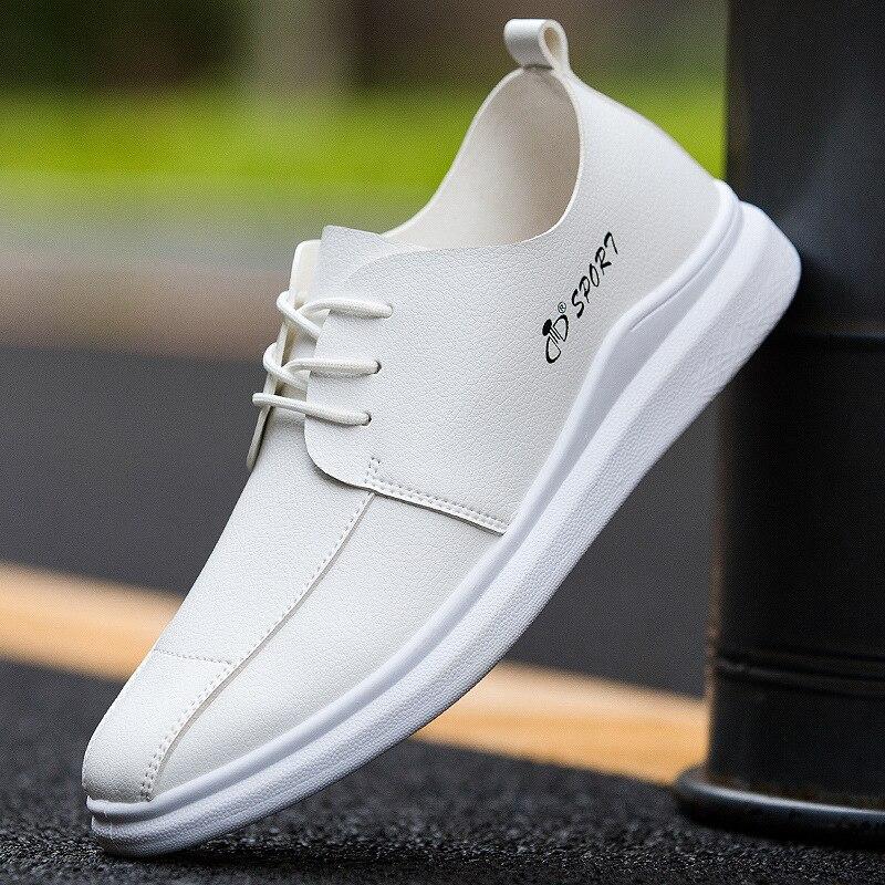 Blanc Mode Marque Shipping Cuir Drop Noir De Luxe Décontractée Brun En Black Plat yellow Chaussures Hommes white U1Uzqw0