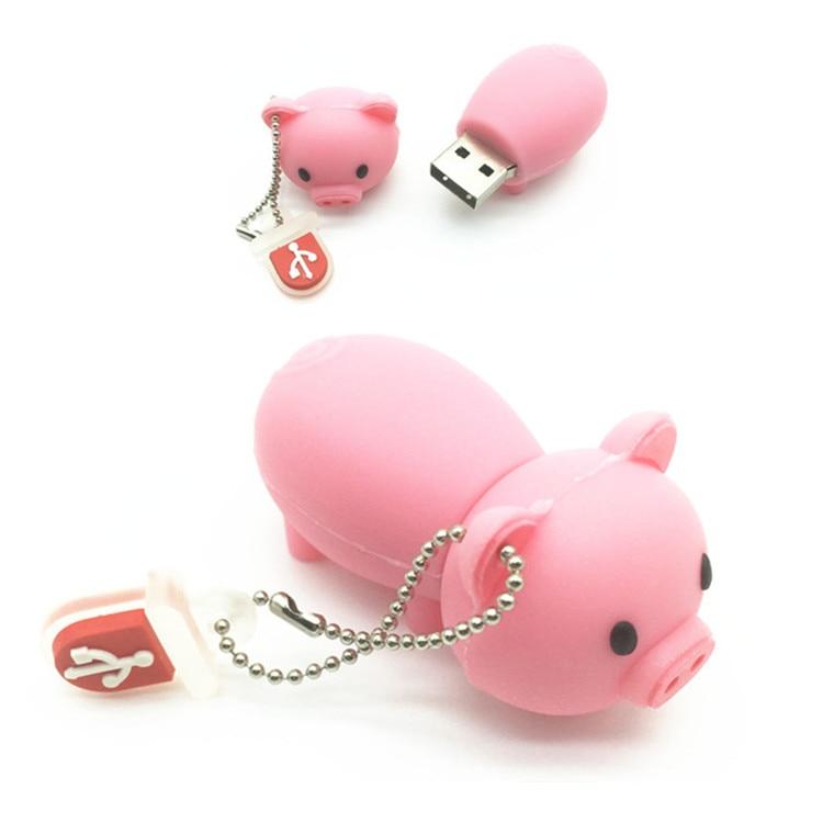 все цены на USB Flash Drive Cute Pig USB 2.0 Flash Drive U Disk to 4GB 8GB 16GB 32GB Memory Stick Pen Drive flash Pen drive driver Pendrive онлайн