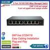 8 Port 10 100 1000Mbps Managed Switch IGMP VLAN Port Mirror 8 Port Full Gigabit Smart