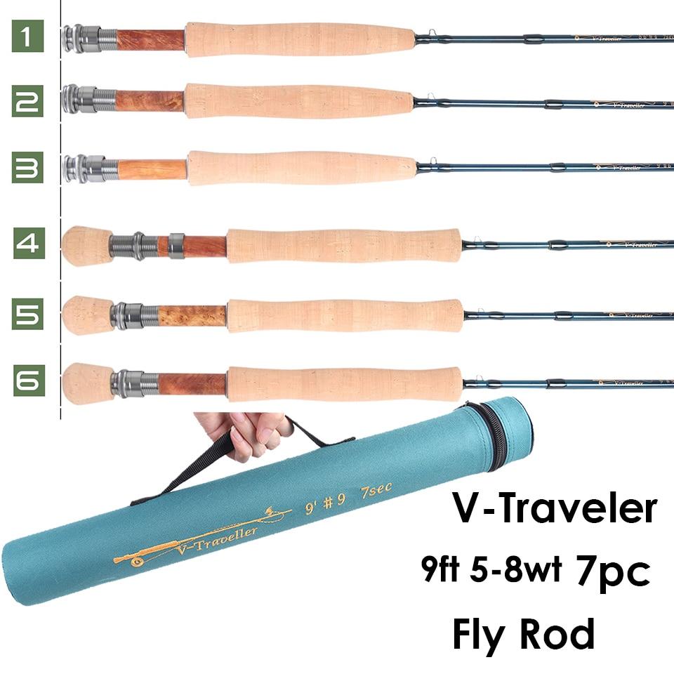 Maximumcatch V 旅行 9FT 5 8wt フライフィッシングロッドグラファイト IM10 炭素繊維 7 個高速アクション旅行フライロッド  グループ上の スポーツ & エンターテイメント からの 釣り竿 の中 1
