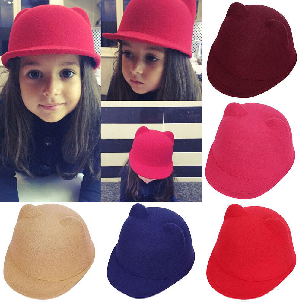 2018 Brand New Toddler Infant Kids Baby Boy Girl Pom Hats Bobble Beanie Cap  Cartton Ears Mouse Ears Hat 2-5TCat Bowler Hats 605b94fdd5a