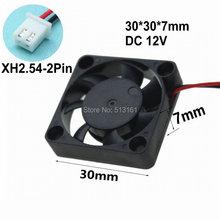 100pcs/lot GDT DC 12V 2P Electric Cooling Fan 3cm 3007 30*30x7mm Cooler Radiator 12v fan