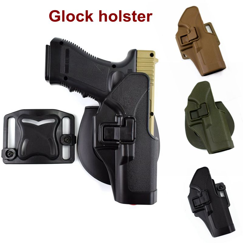 US $8 92 30% OFF|Military GLOCK Accessories Waist Airsoft Pistol  Airsoftsports Tactical Hunting Belt Holster Glock 17/19/22/31 Hand Gun  Holster-in