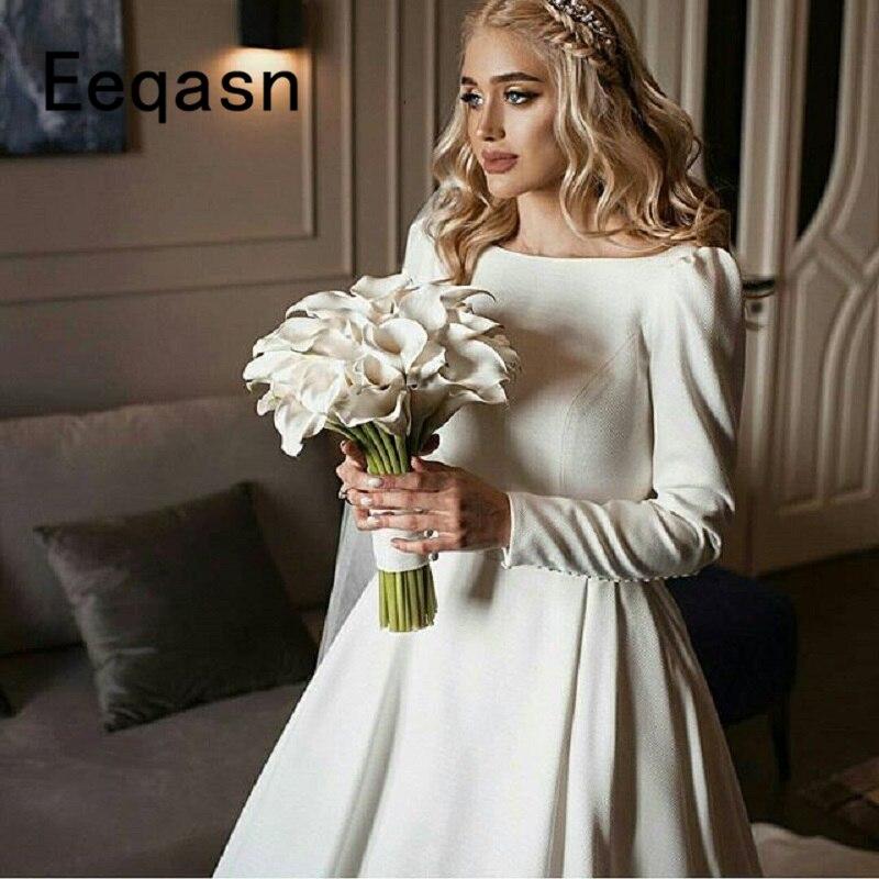Simple Elegant Wedding Dress With Sleeves Woman And More: Elegant Beach Wedding Dress 2019 A Line Backless Simple