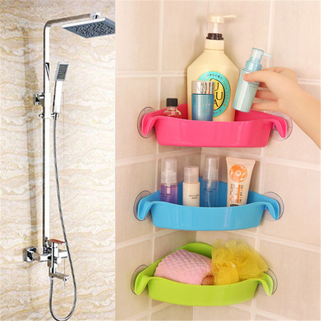 1 pc Multi strong sucker bathroom racks, kitchen racks, toilet ...