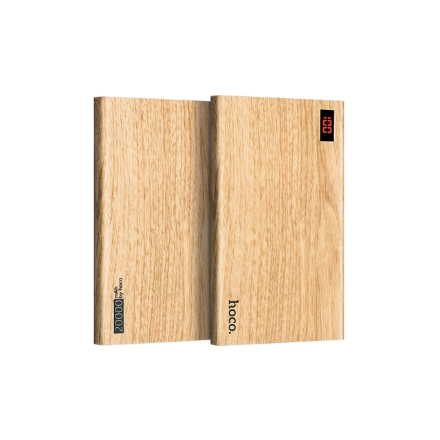 НОСО B17B 20000 мАч 2.1A Древесины Двойной USB Power Bank Зарядное Устройство для iPhone iPad Samsung Смартфон
