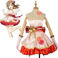 Люблю жить солнце Aqours много ханамару платье майка форма наряд аниме Костюмы для косплея