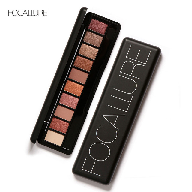 FOCALLURE New Pro 10 Colors Set Women Waterproof Makeup