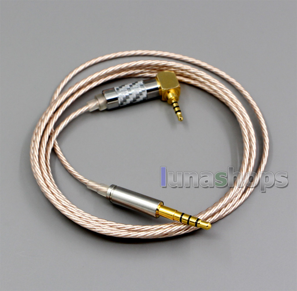 Hi Res Silver Plated XLR 3.5mm 2.5mm 4.4mm Earphone Cable For Denon AH mm400 AH mm300 AH mm200 LN006374|Earphone Accessories| |  - title=