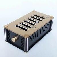 GZLOZONE Full Aluminum Enclosure DIY Case / Tube Amplifier Chassis Amplifier Box L14 3