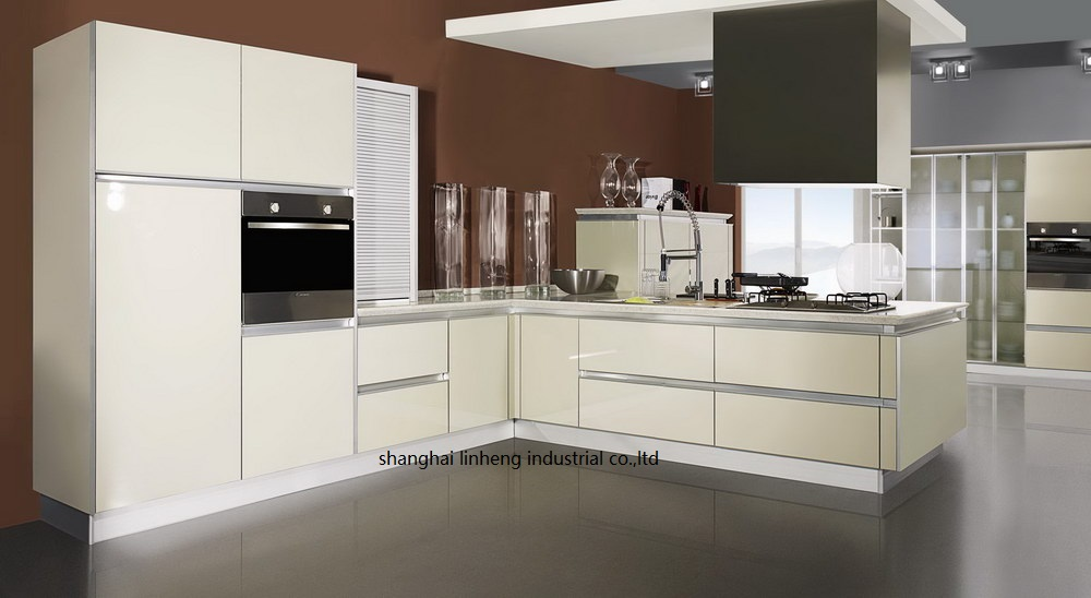 high gloss lacquer kitchen cabinets | High gloss/lacquer kitchen cabinet mordern(LH LA083)-in ...