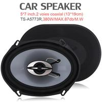 2pcs 5*7 Inch 380W Auto Car HiFi Coaxial Speaker Vehicle Door Auto Audio Music Stereo Full Range Frequency Car Speakers