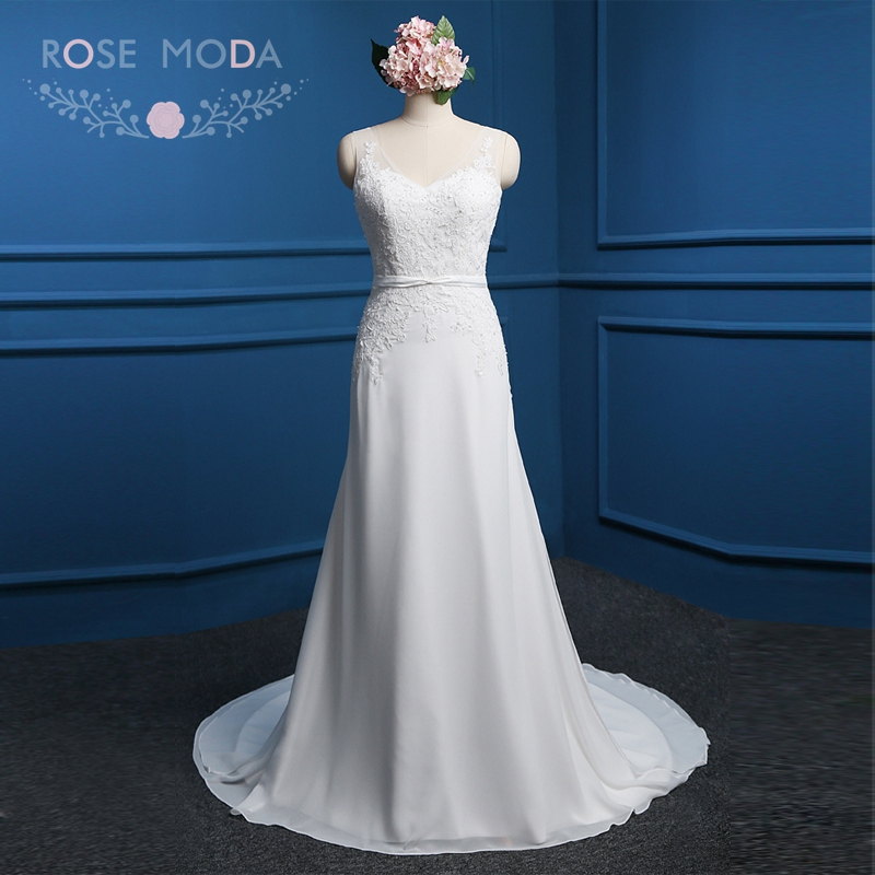Aliexpress.com : Buy Rose Moda Beach Wedding Dress Hach