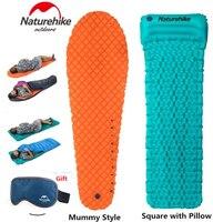 Brand Naturehike Outdoor Camping Inflatable Tent Mat Mummy Pads With Pillow Lightweight Air Mattress 470g Utralight