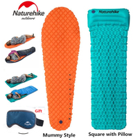 Brand Naturehike Outdoor Camping Inflatable Tent Mat Mummy Pads With Pillow Lightweight Air Mattress 470g Utralight