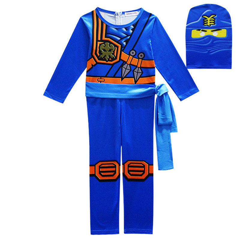 Ninjago Cosplay Costumes Boys Clothes Sets Superhero Cosplay Boy Ninja Costume Girls Halloween Party Dress Up Streetwear Kids самокат 3 х колесный ridex 3d stark 135 90 мм синий