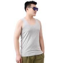 Крутой мужской жилет с u-образным вырезом, Модальная Повседневная Домашняя одежда, верх для сна, летняя свободная ночная рубашка, белье, размер XL-6XL