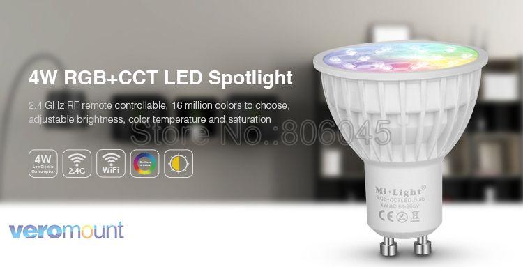 Milight pode ser escurecido lâmpada led 4