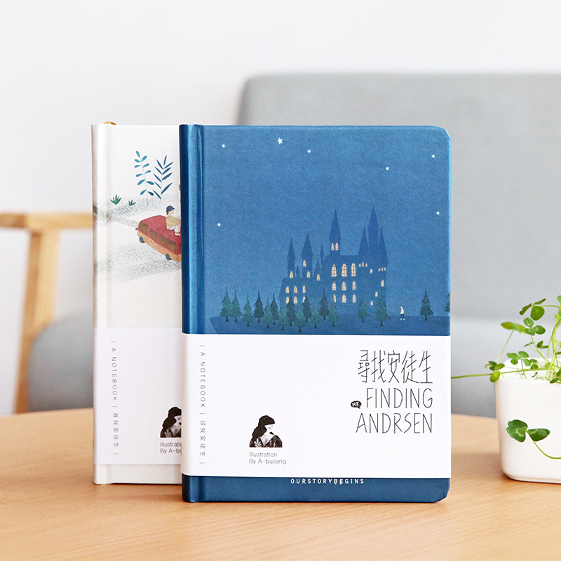 Fromthenon Creative Hardcover Notebook Andersen Diary With Color Illustrations Student Notepad Kawaii Stationery School Supplies dolphin kid notebook cartoon password diary lockable korea stationery notebook kawaii notepad school supplies lovely xmas gift