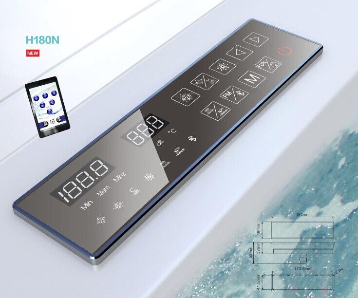 2017 New Arrival Smart Bathroom WIFI Bluetooth Functions Thermostat Digital Massage Bathtub Controller