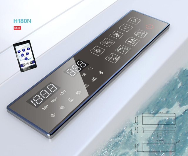 2017 New Arrival Smart Bathroom WIFI Bluetooth Functions