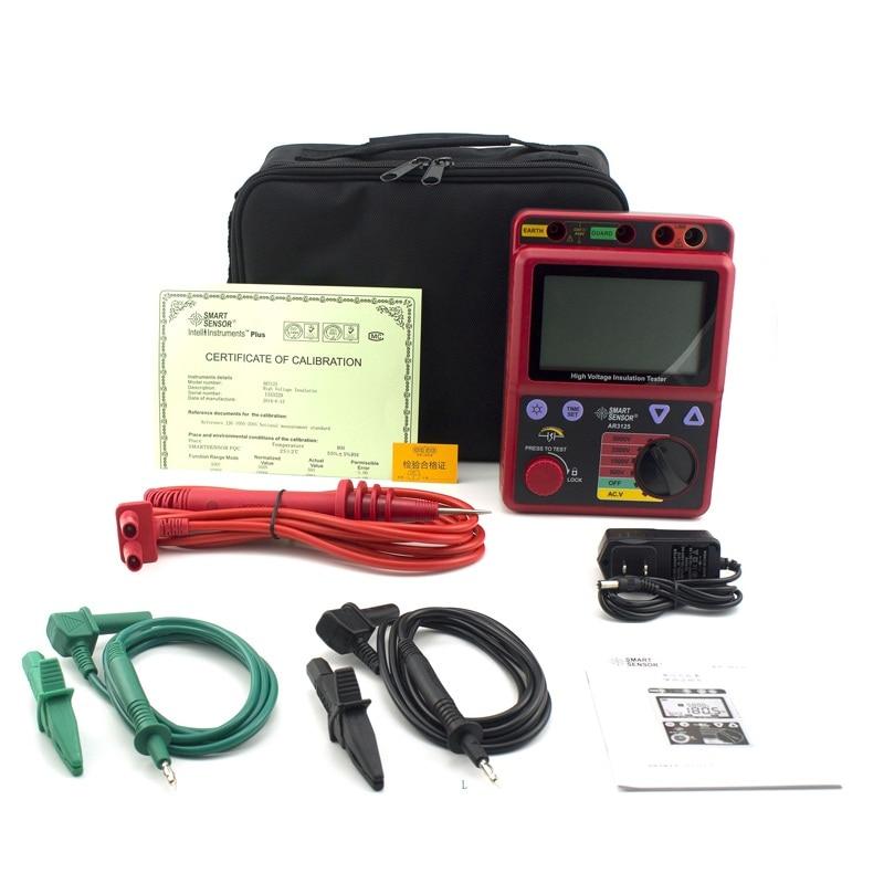 Smart Sensor AR3125 500~5000V Megohmmeter High Voltage Insulation Resistance Tester Megger