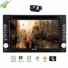 Android 5.1 2 din Car DVD Player Double Din  Multi-Touch Screen GPS Navigation Radio Stereo Bluetooth/SD/USB/FM Wifi Rear Camera