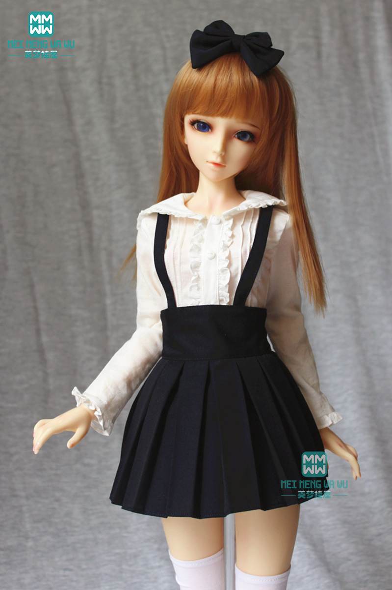 Pink Turtleneck Sweater Outfits T Shirt For Female 1//4 17in BJD MSD AOD  DZ DOLL