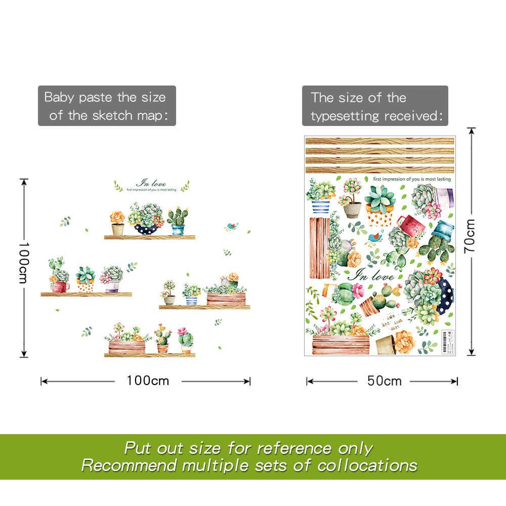 Садовое растение бонсай домашний декор настенные наклейки для гостиной настенный стикер цветок кухня ПВХ настенные наклейки DIY Украшение