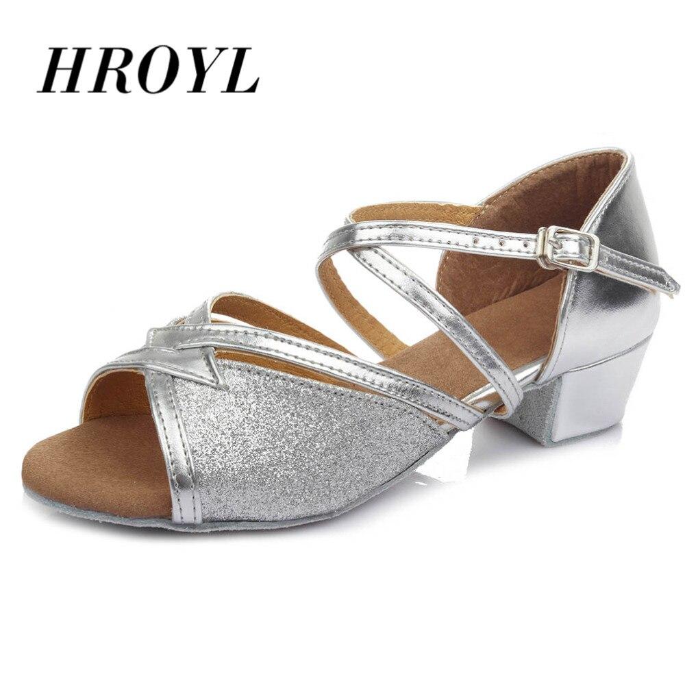 Nuevos zapatos de baile de salón para niños, zapatillas modernas y latinas para niña, zapatos de baile suaves para niñas, zapatos de baile Salsa tango