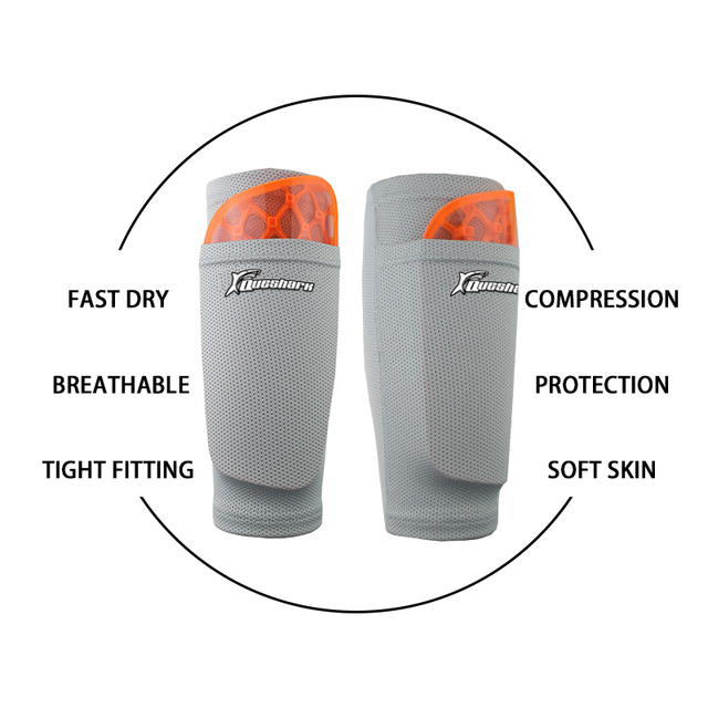 Kids Adults Soccer Shin Guards Teenagers Children Football Leg Support Calf Protector Sports Calf Sleeve with Shockproof Pad