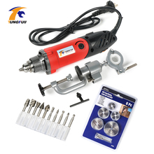 hot deal buy tungfull grinder tool 500w carving polishing grinding electric tools powder grinder machine dremel style accessories diy multi