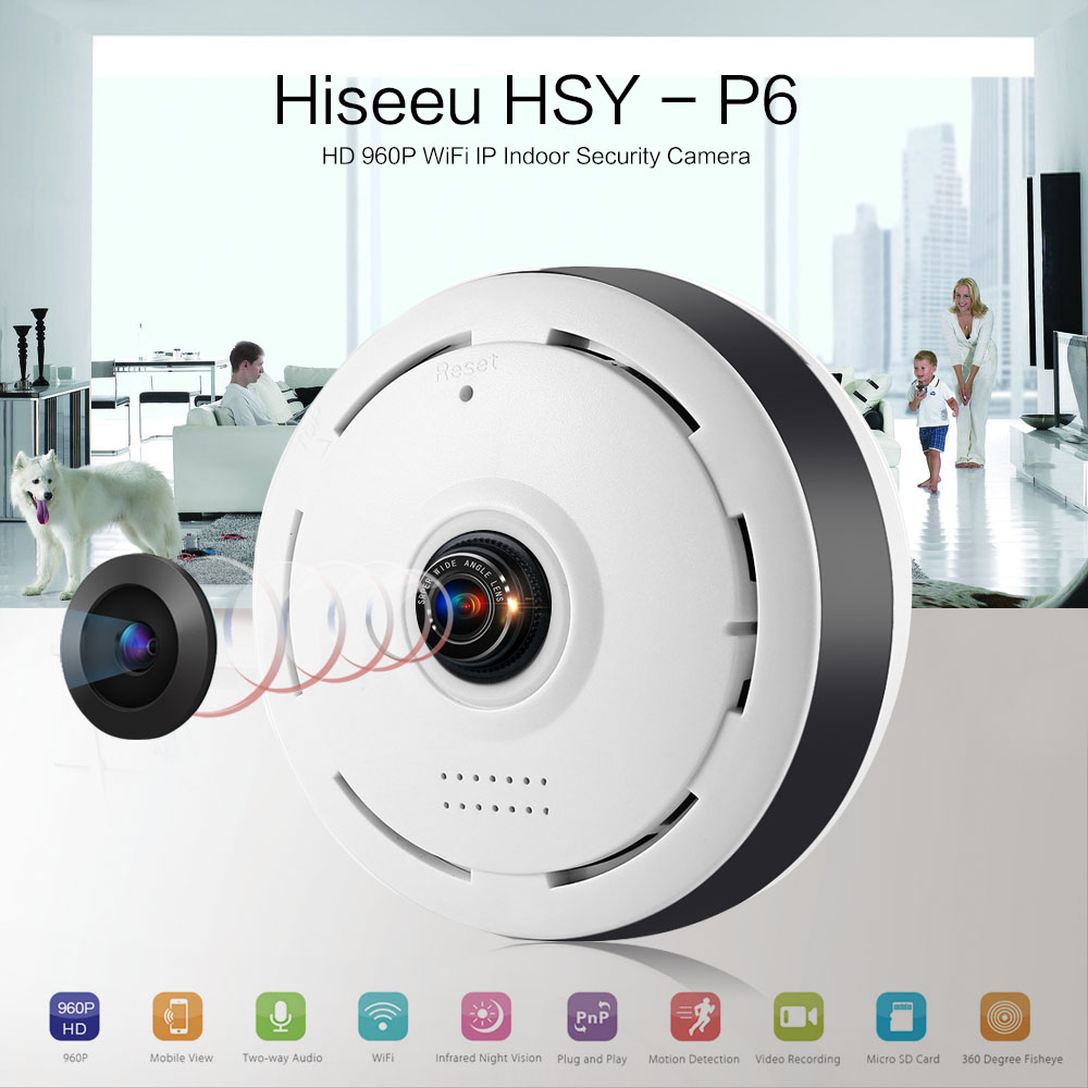 HD FishEye IP Camera WIFI 960P 360 Degree Mini WiFi Camera 1.3MP Network Home Security Camera Panoramic IR Surveillance Camera цена