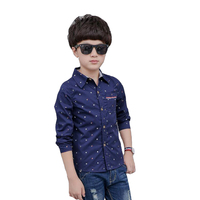 Teenage Kids Shirts For Boys School Uniforms Long Sleeve Cotton Blouses Students Tops 4 5 7 9 11 13 14 Years Spring Autumn Shirt