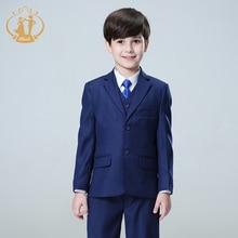Nimble suit for boy Single Breasted boys suits for weddings costume enfant garcon mariage boys blazer jogging garcon blue