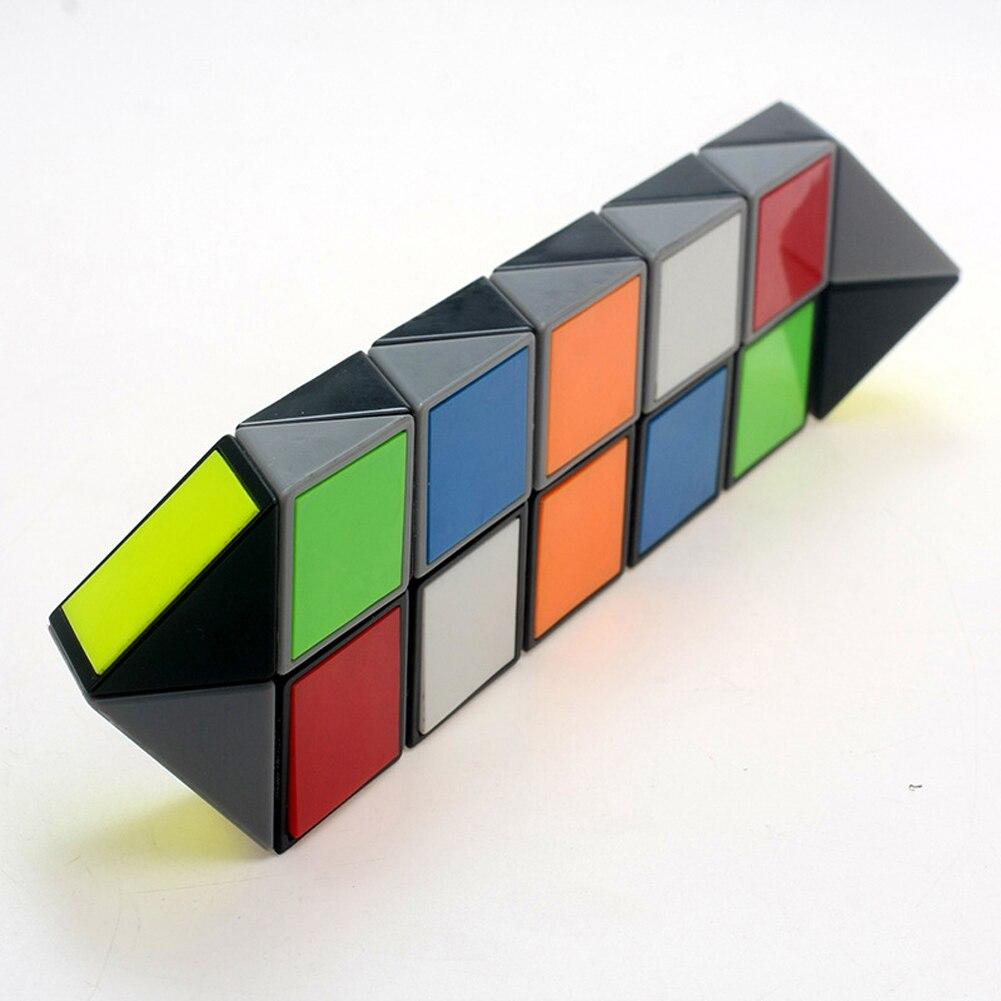 Colorful Snake Magic Cube Blocks Puzzle 3d Iq Puzzle Magic Ruler Education Intelligence Toys For Chilidren Kids Magic Cubes Toys & Hobbies