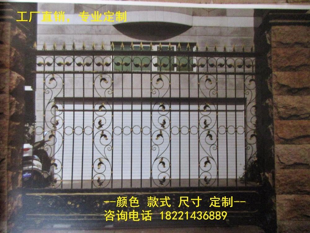 Custom Made Wrought Iron Gates Designs Whole Sale Wrought Iron Gates Metal Gates Steel Gates Hc-g91