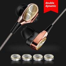 Wysokiej jakości 3.5mm douszne słuchawki Clear Bass słuchawki z mikrofonem ciężki bas dźwięk słuchawki muzyczne dla telefonu komórkowego