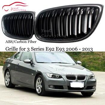 ABS углеродное волокно передняя решетка радиатора для BMW 3 серии E92 E93 E90 M3 E92 M3 E93 M3 2006-2013 Coupe Cabriolet 320i 325i сетки грили