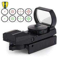 Hunting Tactical 20mm/11mm Holographic 1x22x33 Reflex Red Green Dot Sight Scope RifleScope For Airsoft Gun Caza(China)