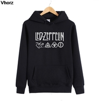 Rock Star Led Zeppelin Hoodie Cotton Winter Teenages Led Zeppelin Logo Sweatershirt Pullover Hoody With Hood